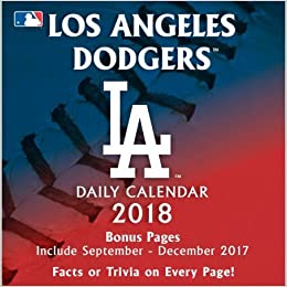 Los Angeles Dodgers 2018 Calendar Not Available 9781469349572