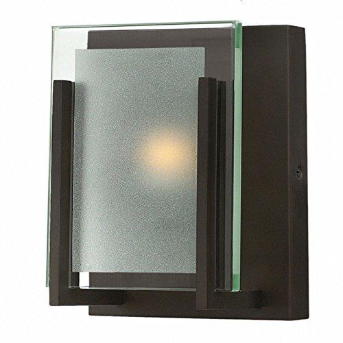 Hinkley 5650OZ, Latitude Glass Wall Sconce Lighting, 1 Light Halogen, Oil Rubbed Bronze