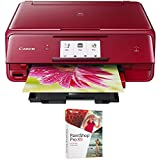 Canon PIXMA wireless Color Photo Printer with Scanner & Copier 4.3 Red (1369C042) with Corel Paint Shop Pro X9 Digital Download