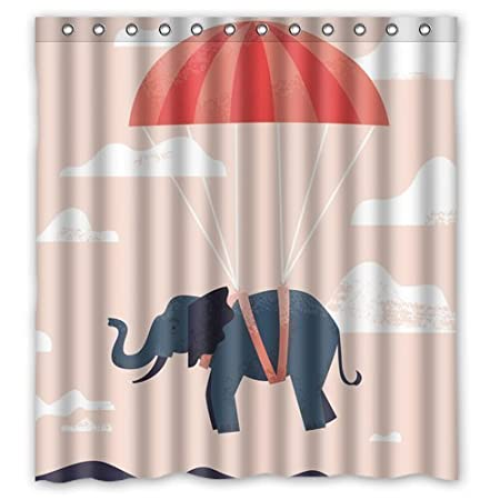 Elephant With Parachute Custom Create Design Your Own Waterproof