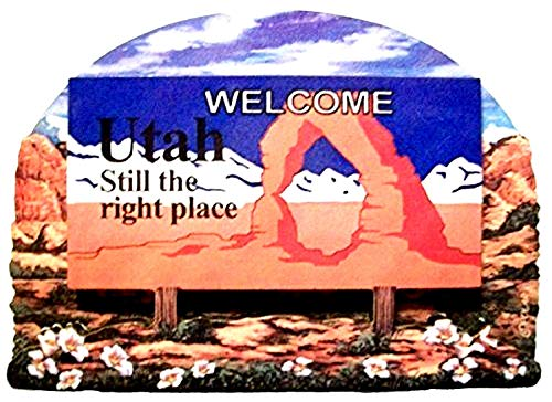 (Utah State Welcome Sign Wood Fridge Magnet 2)