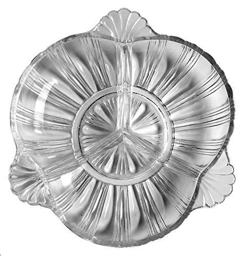 Hazel Atlas Clear Glass (3-Part Relish Dish) ()