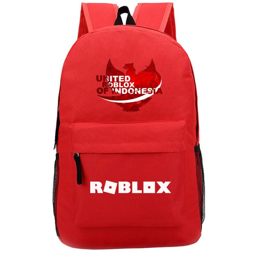 NINIUBAL Unisex Roblox School Rucksack Estudiantes Mochilas Mochila de Colegio Viaje Impresión School Bag para Mujeres y Hombres