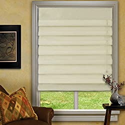 Waterfall Roman Shades Pearl 23x72