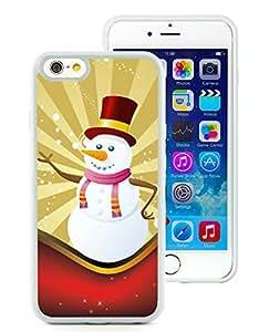 Custom-ized iPhone 6 Case,Christmas Snowman White iPhone 6 4.7 Inch TPU Case 11