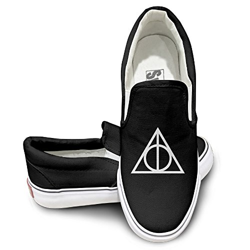MGTER66 Harry Potter And The Deathly Hallows Hot Dance Slip On Sneaker Unisex Style Color Black Size 40