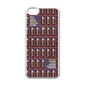 [AinsleyRomo Phone Case] For Iphone 5c -Wonka Bar Chocolate Pattern-Style 16