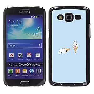 A-type Arte & diseño plástico duro Fundas Cover Cubre Hard Case Cover para Samsung Galaxy Grand 2 (Helado asesinato - Divertido)