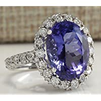Promsup Fashion Women Tanzanite Gemstone Ring 925 Sterling Silver Wedding Bridal Jewelry (8)