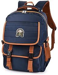 Vbiger School Backpack Breathable Shoulder Bag Outdoor Daypack for Primary Students (Dark Blue)