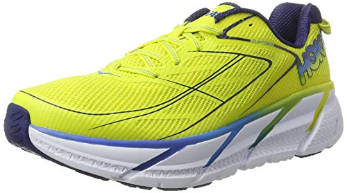 Hoka One Clifton 3, Scarpe Running Uomo Giallo (Citrus/Dresden Blue)