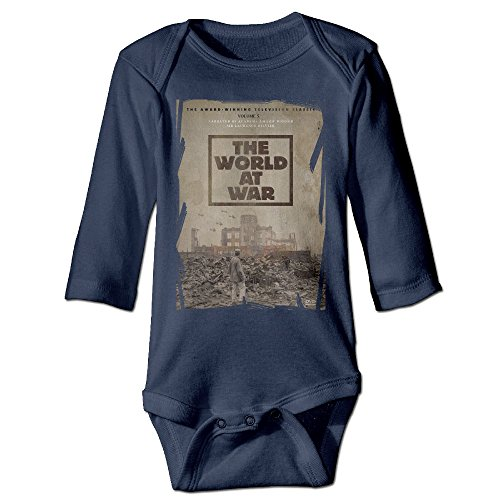 [Raymond The World At War Long Sleeve Bodysuit Baby Onesie Navy 12 Months] (Magic Mike Baby Costume)
