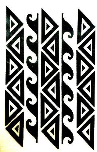 Amazon Com Polynesian Warrior Band Temporary Tattoos Pack Of 2