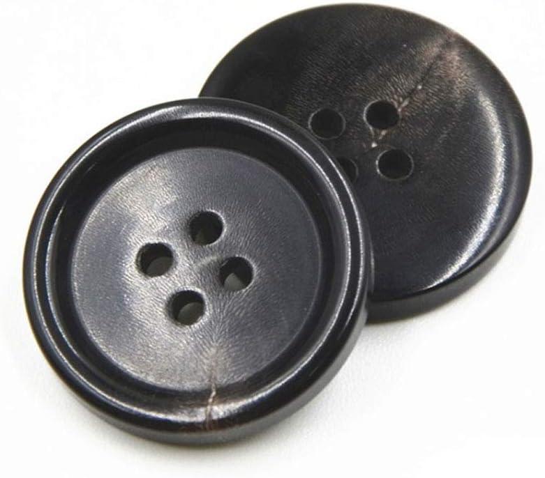 10PCS Botones de Ropa - Botón de Costura de Cuerno de Moda 4 Agujeros Botón de Forma Redonda Establecido para Hombres Mujeres Suéteres, Uniforme, ...