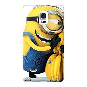 Excellent Hard Cell-phone Cases For Samsung Galaxy Note 4 With Provide Private Custom Attractive Minion Skin AshleySimms