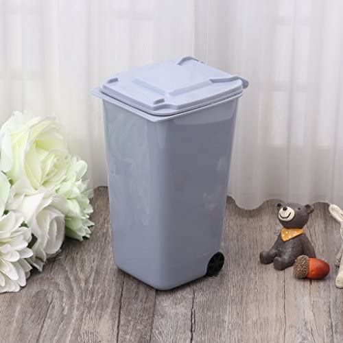 S-TROUBLE Mini Mülleimer Kleine Desktop Stifthalter Schreibtisch Müll Eimer Organizer Reinigungswerkzeuge Wohnaccessoire