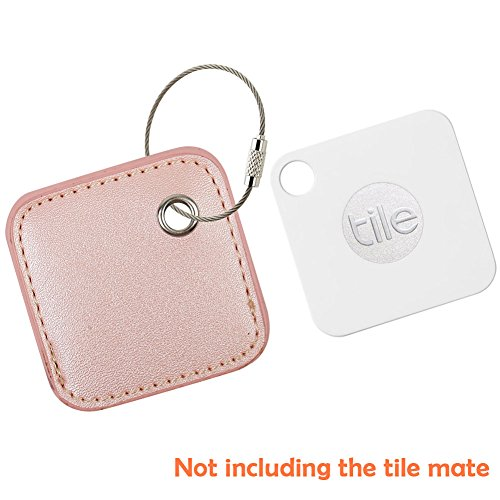 for Tile Mate - Key Finder. Phone Finder. Anything Finder. Tile Mate Case Cover with Keychain. Tile Mate Skin PU Leather Protection - Pink2 by PAIYULE (Image #4)