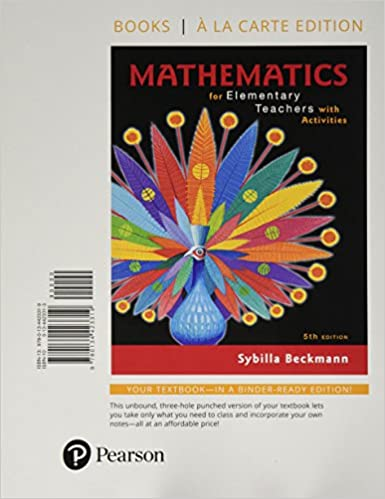 Mathematics For Elementary Teachers With