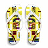 Ron Kite Women's Stylish Beach Casual Flip Flops Anti-Slip Slippers