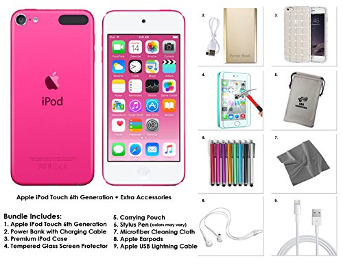 Price comparison product image Apple iPod Touch 6th Generation and Accessories,  32GB - Pink