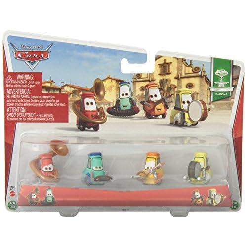 Disney Pixar Cars Uncle Topolino's Band (Festival Italiano Series, #7, #8, #9, #10 of 10) - Voiture Miniature Echelle 1:55