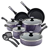 Paula Deen 16986 Riverbend Aluminum Nonstick Cookware Set44; Lavender Speckle – 12 Piece For Sale
