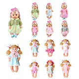 Huang Cheng Toys Set of 12 12-13-14-15-16 Inch Alive Lovely Baby Doll Clothes Dress Outfits Costumes Dolly Pretty Doll Cloth Handmade Girl Christmas Birthday Gift