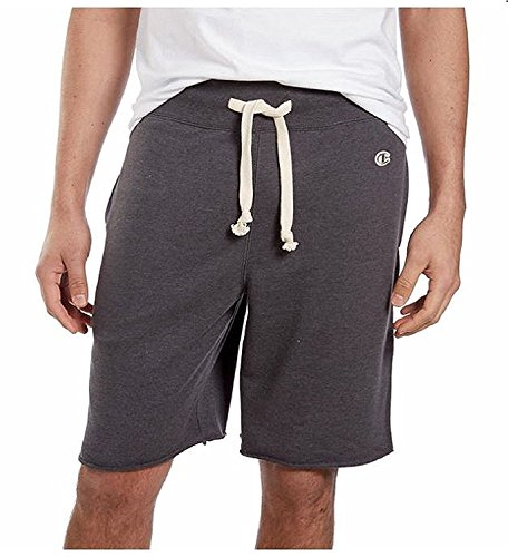 Champion Men's Elastic Waistband with Drawstring French Terry Short Heather Gray Extra Large