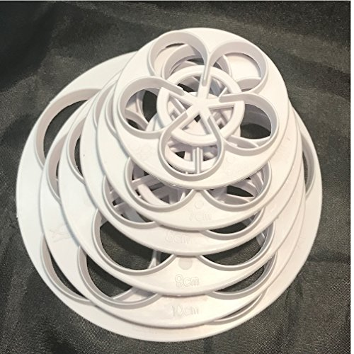 Gumpaste Cutter Tool (Plastic Rose Flower Cutters Set Fondant Cake Decor Gumpaste Flowers Modelling Tools for Cake Cupcake Toppers Decoration Pack of 6)