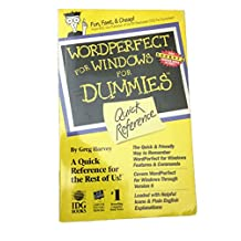 WordPerfect for Windows For Dummies Quick Reference