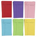 Library Cards - 480-Count Colorful Library Checkout Cards, Due Date Note Cards for School, Public Library Record Keeping, Tracking, Book Borrowing, 6 Assorted Colors, 3 x 5 Inches