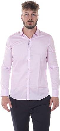 AGLINI - Camisa MFRANCESCO Rosa Hombre 40: Amazon.es: Ropa y ...