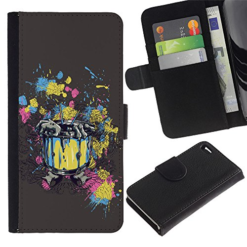 OMEGA Case / Apple Iphone 4 / 4S / Abstract Zombie Rising Painting Art / Cuir PU Portefeuille Coverture Shell Armure Coque Coq Cas Etui Housse Case Cover Wallet Credit Card