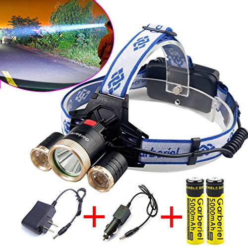 Headlamp Overlays (40000LM 3X XM-L 3Modes T6 LED Headlamp Head light Torch Flashlight Outdoors , Rechargable Battery Adjustable Headband,Best for Camping Running Hiking , Running)