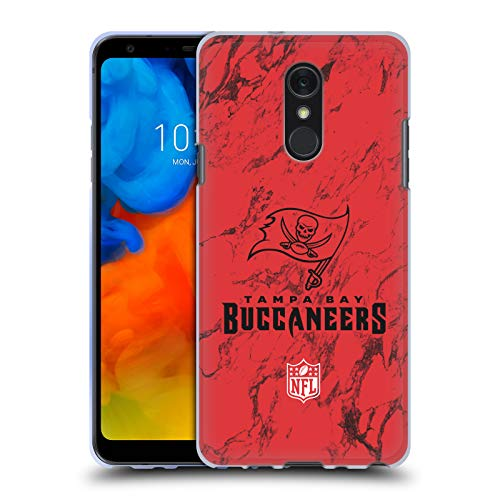 (Official NFL Coloured Marble 2018/19 Tampa Bay Buccaneers Soft Gel Case for LG Q Stylus/Q Stylo 4)