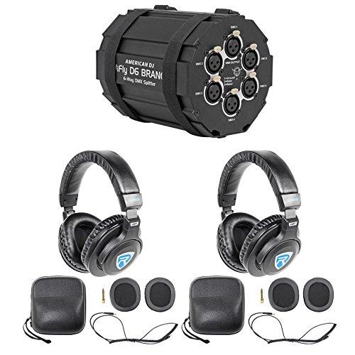 American DJ WIFLY D6 BRANCH 6-Way DMX Splitter w/Wireless Transmitter+Headphones by American DJ