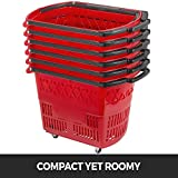 Mophorn 6PCS Shopping Carts, Plastic Rolling
