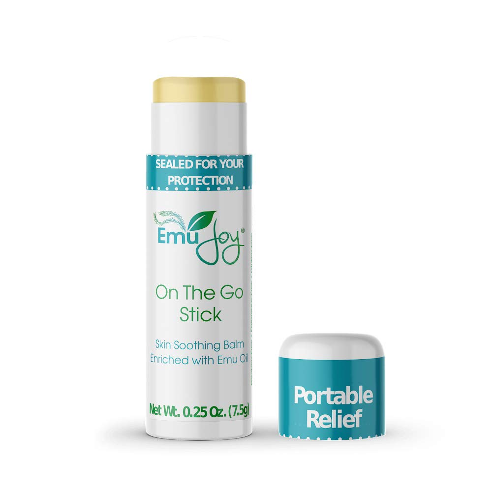 Mosquito Bite Relief - Bug Bite Itch Relief for Kids Baby & Adults - Anti Itch Treatment for Insect Bites Bee Stings Bed Bug Bites - All Natural Emu Joy On The Go Stick by Emu Joy