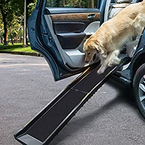 PaWz Pet Ramp for SUV Truck Travel Foldable Ladder Stair Portable Car Step Click on image for further info.
