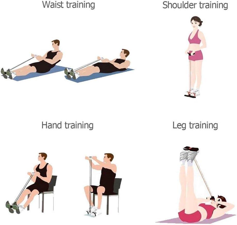 LIJJY Gewichtsverlust Pull Rope Abdominal Trainers mit Handle Resistance Band Multifunktion Leg Reterciser Pull-up Exerciser Sit-up Exerciser