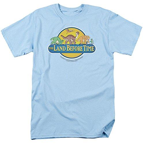 Trevco Men's Land Before Time Short Sleeve T-Shirt, Light Blue, - T-shirt Big Time Blue