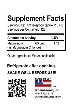 Amazon.com : Cloruro de Magnesio - Utilizada para Combatir la Depresion y Calambres. Elimina el acido urico. Somos Natura - 8 FL.OZ : Everything Else