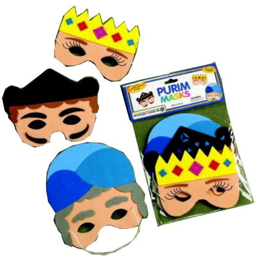 Set of 3 Purim Themed Foam Masks (Purim Characters)