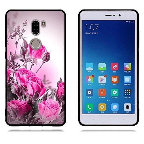 Funda Xiaomi Mi 5s Plus, FUBAODA [Flor rosa] caja del teléfono elegancia contemporánea que la manera 3D de diseño creativo de cuerpo completo protector Diseño Mate TPU cubierta del caucho de silicona  pic: 13
