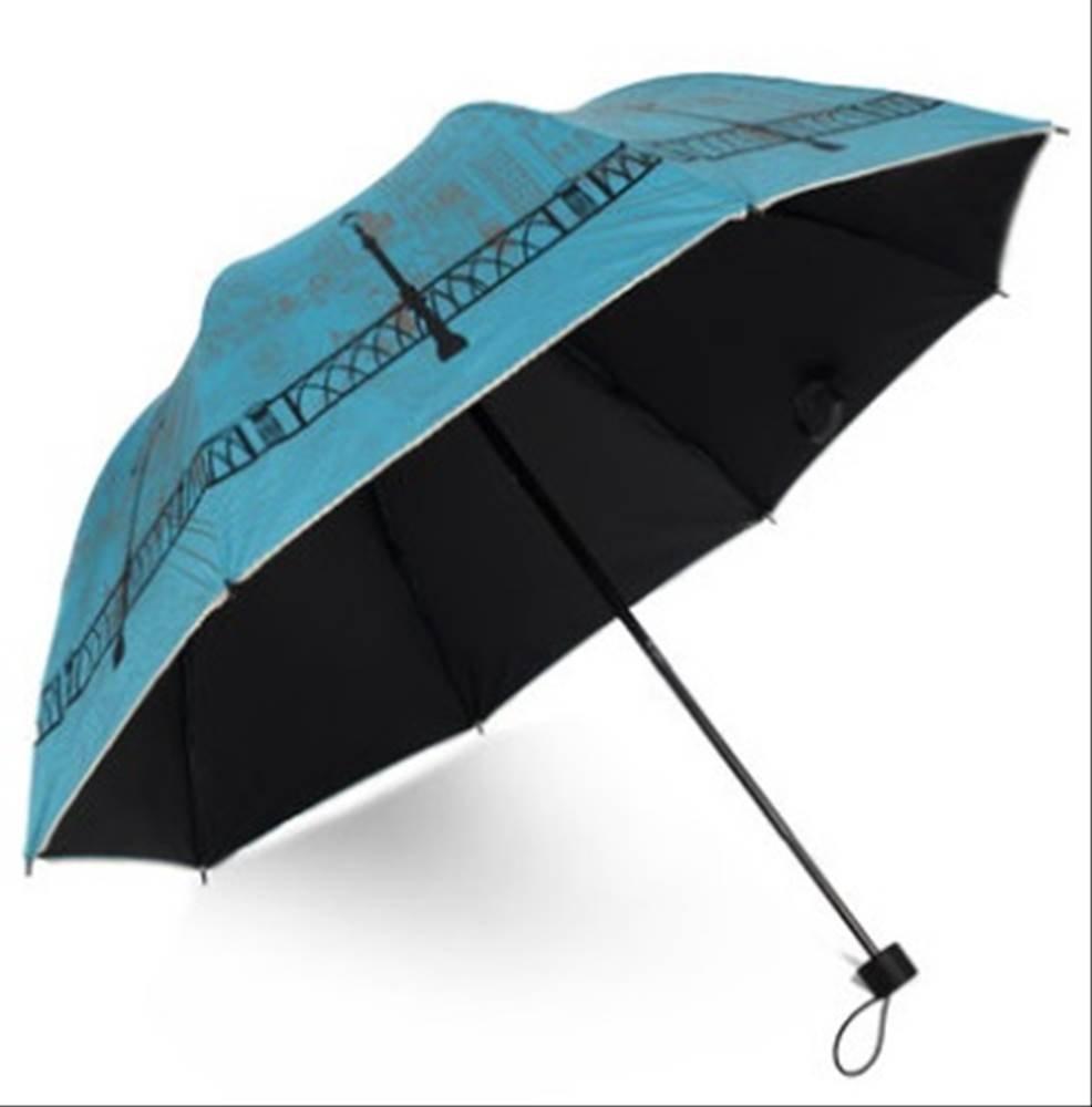 Sta.ANA(サンタ・アナ)選べる4色 レディース かわいい お洒落な 晴雨兼用 折りたたみ傘 日傘 紫外線防止 (濃水色)