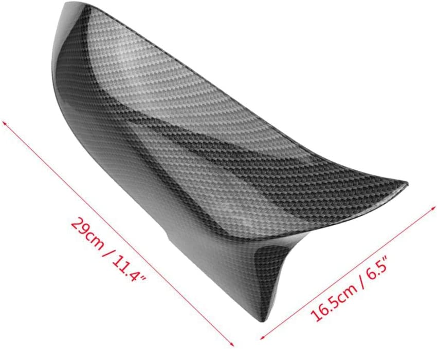 Monland 2 Pcs Carbon Fiber Car Rear View Mirror Cover Cap for Series 1 2 3 4 X M 220I 328I 420I F20 F21 F22 F23 F30 F32