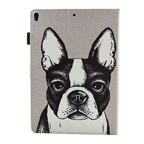 iPad Pro Case 10.5'', Auto Sleep & Wake Function Protective Flip Painting Wallet Case PU Leather Kickstand Cover Soft TPU Interior Magnetic Shell with Stylus Pen for iPad Pro 10.5 by Badalink - Dog by Badalink (Image #5)