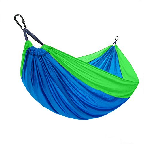 Travel Hammock Tree Sling - LKF Ripstop Double Camping Hammock With 9ft Tree Straps - Capacity 1000lbs, Lightweight Portable Nylon Hammock For Hiking, Travel, Backpacking, Beach,Yard.(118