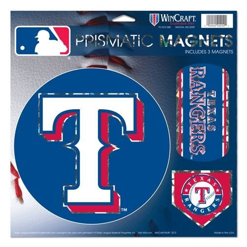 Wincraft MLB Texas Rangers Prismatic Magnets Sheet, 11