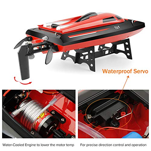 Gizmovine Remote Control Boat for Pools and Lakes, 20 MPH+ High Speed RC Boats for Adults or Kids, 2.4GHz RC Racing Boat 180 Degree Flipping Boat Toys for Boys (H101)